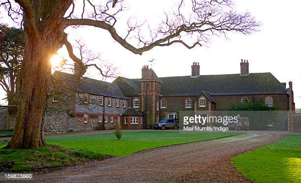General view of the rear of Anmer Hall on the Sandringham Estate on January 13, 2013 in King's Lynn, England. It has been reported that Queen...