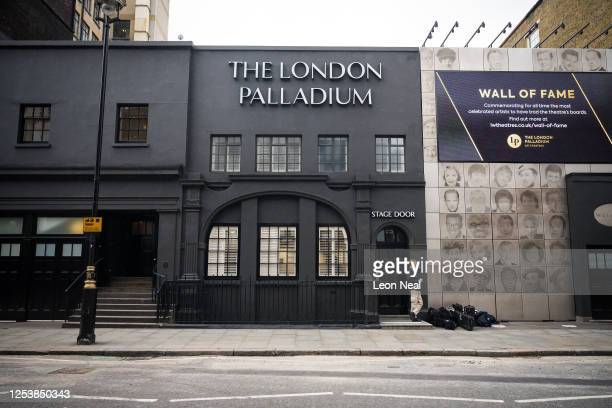 General view of the rear of the temporarily closed London Palladium theatre on July 02, 2020 in London, United Kingdom. The British government have...