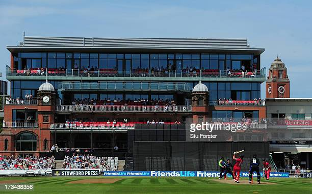 A general view of the recently refurbished pavilion during the Friends Life T20 match between Lancashire Lightning and Durham Dynamos at Old Trafford...