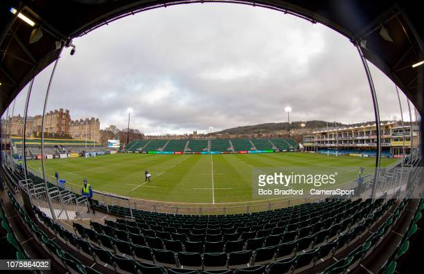 A general view of The Recreation Ground home of Bath Rugby during the Gallagher Premiership Rugby match between Bath Rugby and Leicester Tigers at...