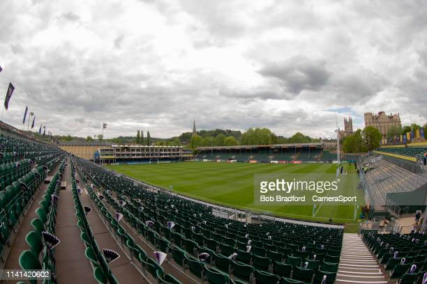 A general view of The Recreation Ground home of Bath Rugby during the Gallagher Premiership Rugby match between Bath Rugby and Wasps at Recreation...