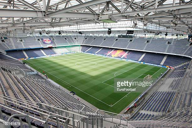 General view of the Red Bull Arena, home of FC Red Bull Salzburg taken prior to the Austrian Bundesliga match between FC Red Bull Salzburg and SK...