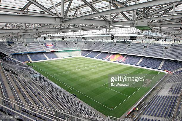 General view of the Red Bull Arena home of FC Red Bull Salzburg taken prior to the Austrian Bundesliga match between FC Red Bull Salzburg and SK...