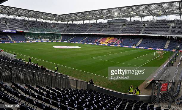 General view of the Red Bull Arena home of FC Salzburg taken during the Austrian Bundesliga match between FC Salzburg and FK Austria Wien held on May...