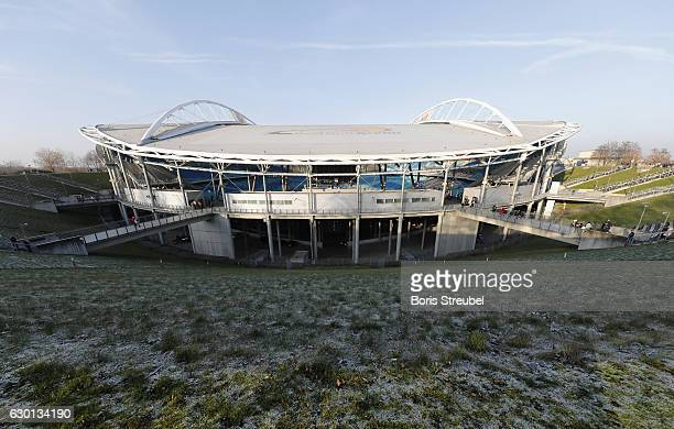 A general view of the Red Bull Arena prior to the Bundesliga match between RB Leipzig and Hertha BSC at Red Bull Arena on December 17 2016 in Leipzig...