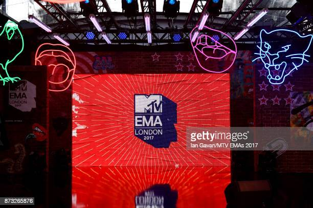 A general view of the red carpet ahead of the MTV EMAs 2017 on November 12 2017 in London England The MTV EMAs 2017 is held at The SSE Arena Wembley...
