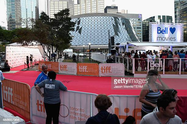 General view of the red carpet at the 'Forsaken' premiere during the 2015 Toronto International Film Festival at Roy Thomson Hall on September 16...