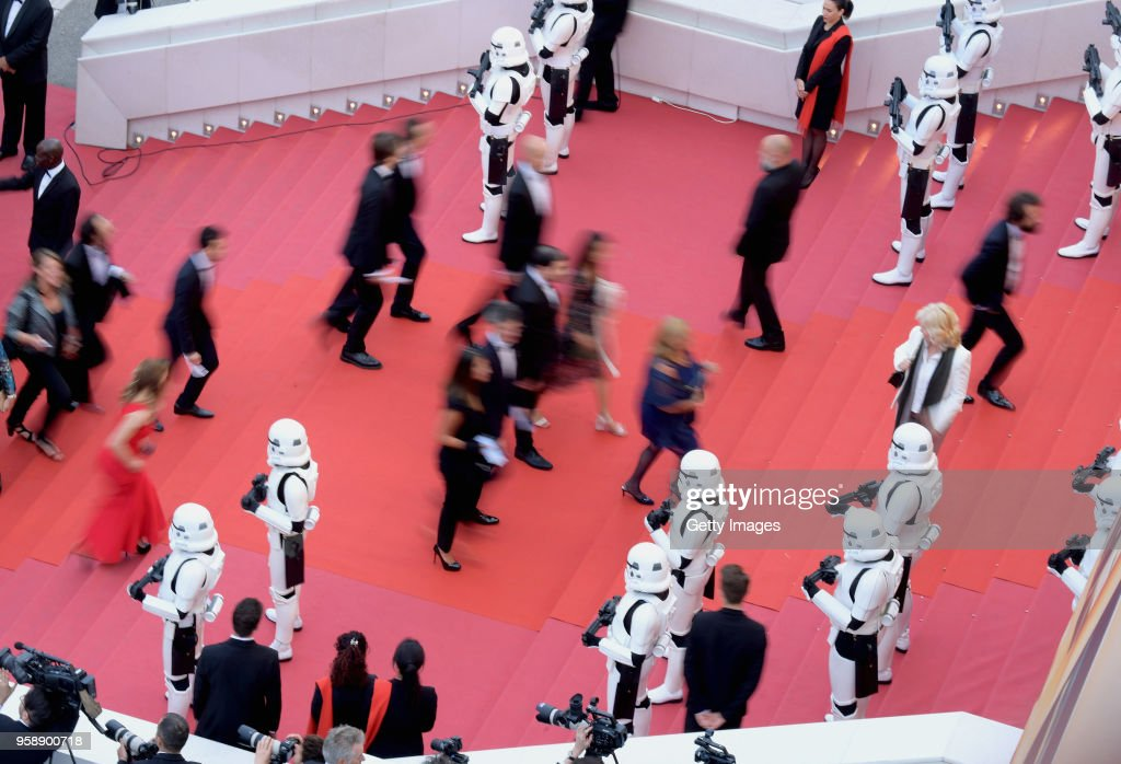 A general view of the red carpet at the screening of 'Solo: A Star Wars Story' during the 71st annual Cannes Film Festival at Palais des Festivals on May 15, 2018 in Cannes, France.