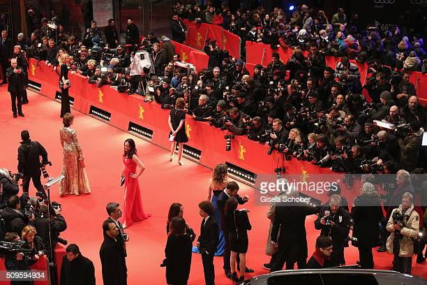 A general view of the red carpet before the 'Hail Caesar' premiere during the 66th Berlinale International Film Festival Berlin at Berlinale Palace...