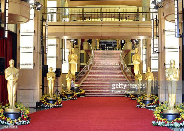 General view of the red carpet before the start of arrivals at the 82nd Annual Academy Awards held at Kodak Theatre on March 7, 2010 in Hollywood,...