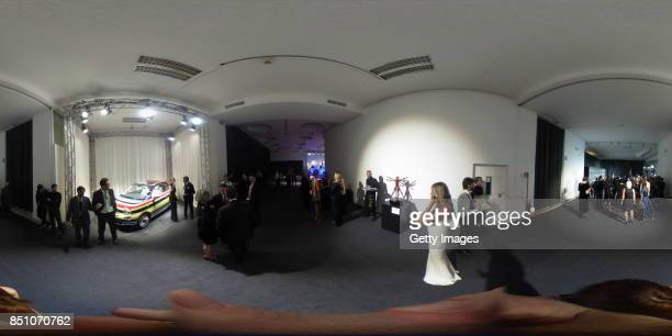 A general view of the red carpet of amfAR Gala Milano on September 21 2017 in Milan Italy