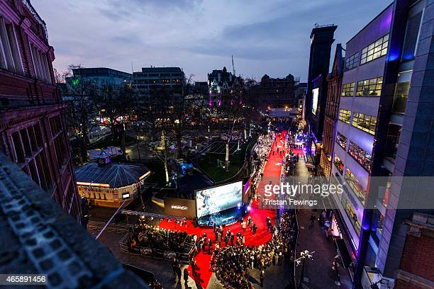 A general view of the red carpet the World Premiere of Insurgent at Odeon Leicester Square on March 11 2015 in London England