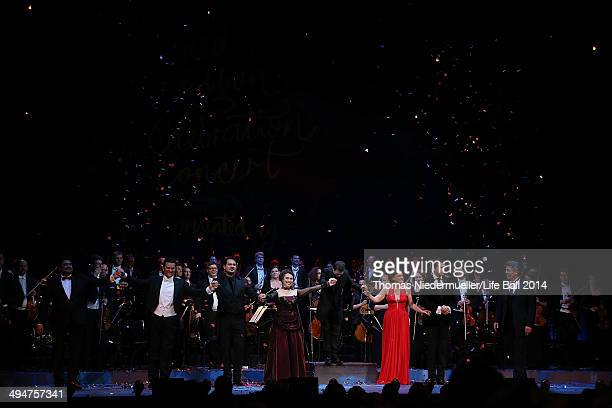 General view of the 'Red Ribbon Celebration Concert United in Difference' at Burgtheater on May 30 2014 in Vienna Austria
