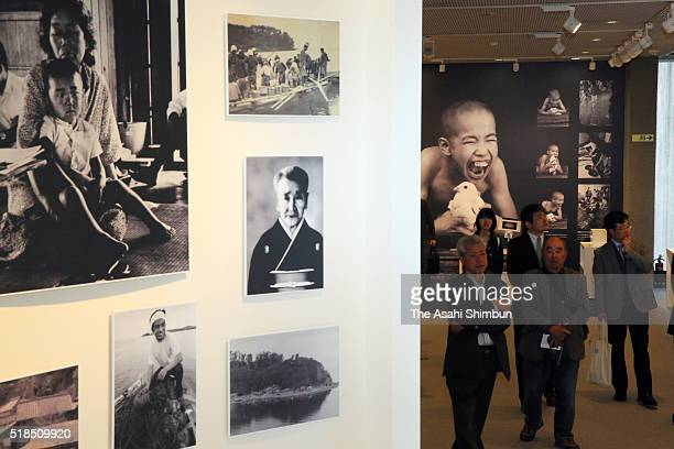 A general view of the redesigned Minamata Disease Municipal Museum during the press preview on March 31 2016 in Minamata Kumamoto Japan The museum...