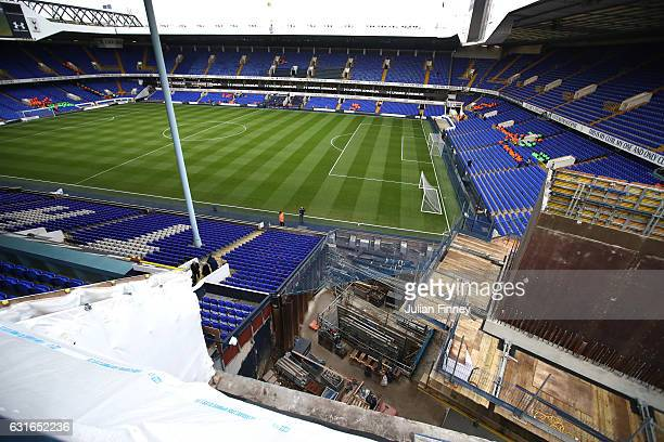 General view of the redevelopment site prior to the Premier League match between Tottenham Hotspur and West Bromwich Albion at White Hart Lane on...