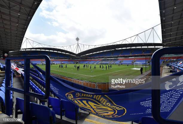 General view of the Reebok Stadium before the Sky Bet League 2 match between Bolton Wanderers and Harrogate Town at the Reebok Stadium, Bolton,...