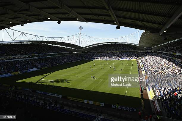 General view of the Reebok Stadium during the FA Barclaycard Premiership match between Bolton Wanderers and Aston Villa at The Reebok Stadium in...