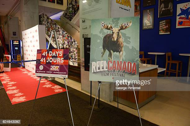 A general view of the REEL CANADA press conference announcing a major government support to host world's largest oneday film festival for Canada's...