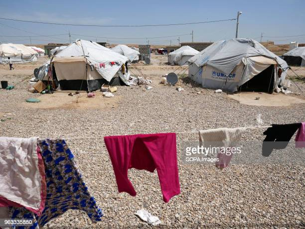 General view of the refugee camp outside Kirkuk for people from Hawija. Ayan , young doctor from Mosul, was running a secret clinic in the city under...