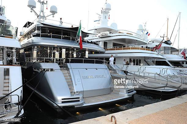 A general view of the Regina d'Italia as guests depart for Naomi Campbell's birthday party during the 63rd Annual International Cannes Film Festival...