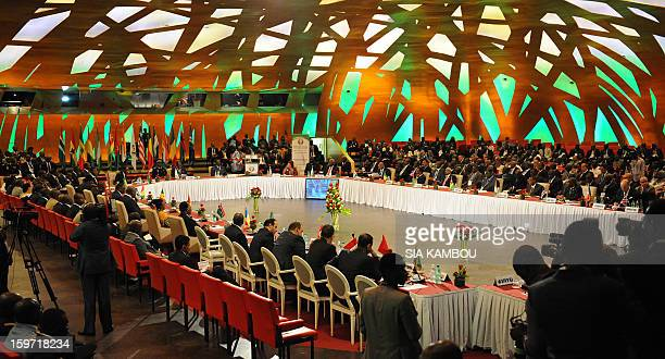 A general view of the regional bloc ECOWAS summit on expediting an African force to come to Mali's aid on January 19 2013 in Abidjan Ivorian...