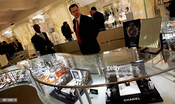 A general view of the relaunch party for the new Fine Jewellery Room at Harrods Knightsbridge on November 10 2005 in London England