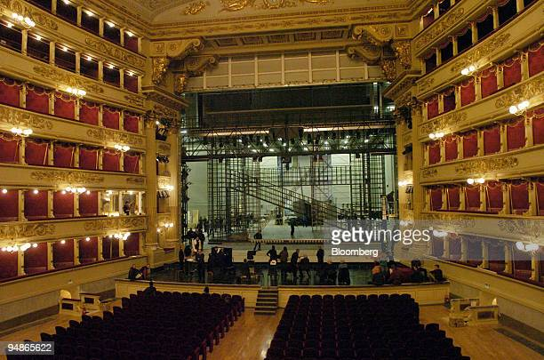 A general view of the renovated auditorium at La Scala opera house in Milan Italy Friday November 19 2004 La Scala reopens December 7 after a 30month...