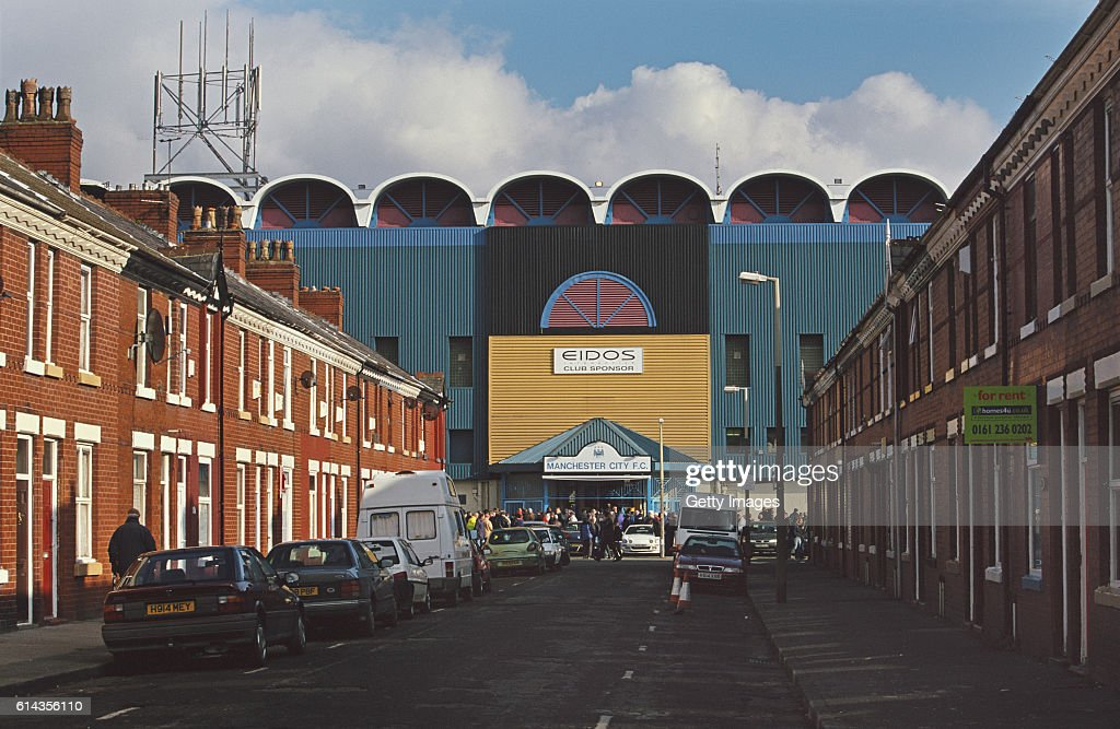 A general view of the residential area around Maine Road, home of Manchester City before an FA Carling Premiership match between Manchester City and Southampton on March 3, 2001 in Manchester, England.