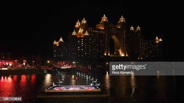 A general view of the Resort Atlantis The Palm Hotel during the DP World Tour Championship Hero Challenge held at Jumeirah Golf Estates on November...