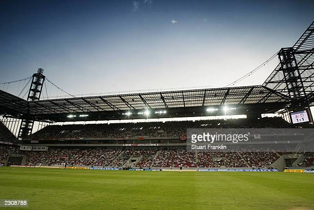 General view of the Rhein Energie Stadium before the friendly match between FC Cologne and Liverpool at The Rhein Energie Stadium on July 16, 2003 in...