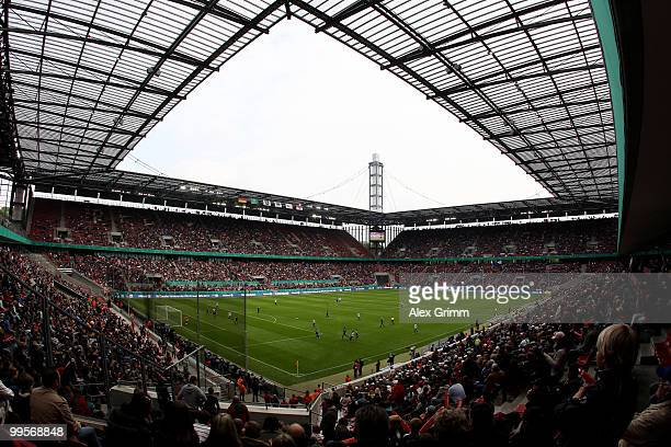 General view of the RheinEnergie stadium during the DFB Women's Cup final match between FCR 2001 Duisburg and FF USV Jena on May 15, 2010 in Cologne,...