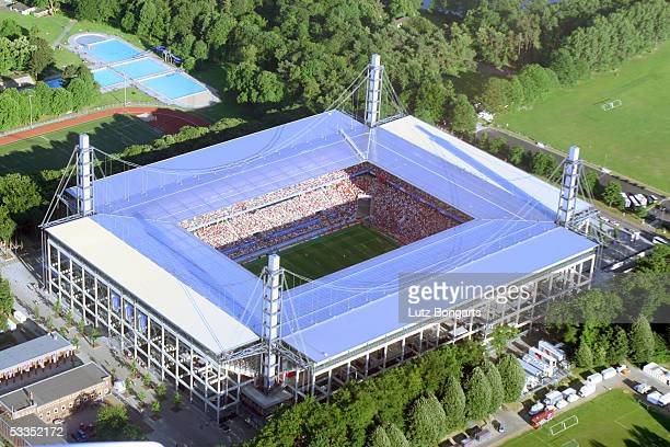 General view of the RheinEnergieStadion is seen during the FIFA Confederations Cup 2005 on June 18, 2005 in Cologne, Germany.