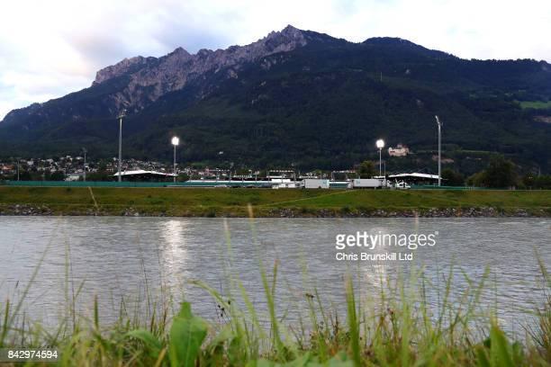 General view of the Rheinpark Stadion ahead of the FIFA 2018 World Cup Qualifier between Liechtenstein and Spain at Rheinpark Stadion on September 5,...