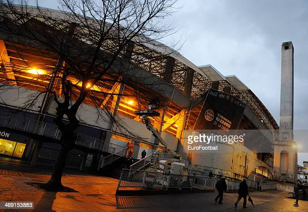 A general view of the Riazor Stadium before the Spanish second league football match between Deportivo de la Coruna and CE Sabadell at the Riazor...