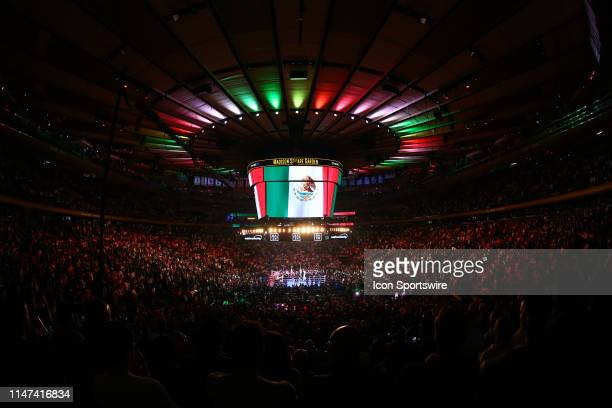 General View of the ring and the inside of Madison Square Garden prior to the World Heavyweight Championship fight on June 1 2019 at Madison Square...