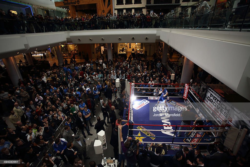 A general view of the ring during the George Groves Media Work Out at Westfield Shopping Centre Shepherds Bush on May 27, 2014 in London, England.