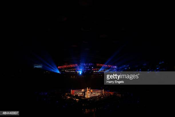 A general view of the ring during the WBO European SuperMiddleweight Championship bout between Frank Buglioni and Sergey Khomitsky at The Copper Box...