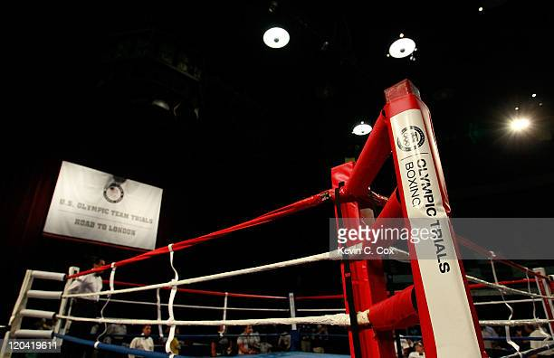 A general view of the ring prior to the 2012 US Men's Boxing Olympic Team Trials at the Mobile Civic Center on August 5 2011 in Mobile Alabama