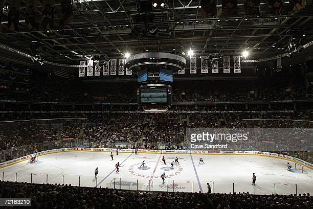 A general view of the rink during a game of the Toronto Maple Leafs against the Ottawa Senators on October 4 2006 at the Air Canada Centre in Toronto...