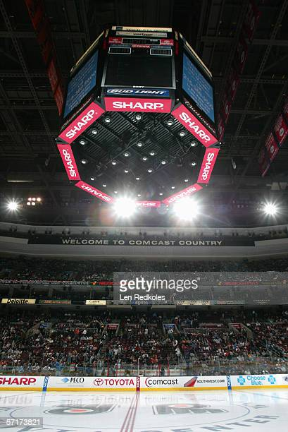 A general view of the rink taken during the game between the Philadelphia Flyers and the Carolina Hurricanes at the Wachovia Center on March 82006 in...
