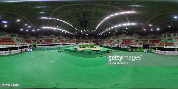 General view of the Rio Olympic Arena venue during the Final Gymnastics Qualifier Aquece Rio Test Event for the Rio 2016 Olympics at the Olympic Park...
