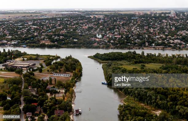 A general view of the river Don on August 20 2017 near RostovonDon Russia