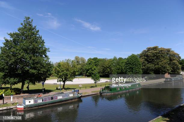 A general view of the River Kennet seen from a bridge next to Victoria Park on May 20 2020 in Newbury England The British government has started...