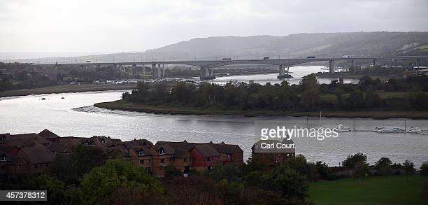 A general view of the River Medway between Rochester and Strood on October 17 2014 from Rochester Castle in Rochester England Rochester and Strood...