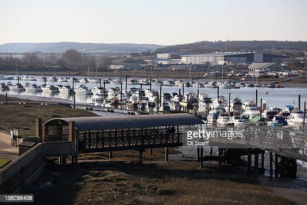 A general view of the river Medway in the city of Rochester whose streets are believed to be the inspiration for locations in Charles Dickens' novels...