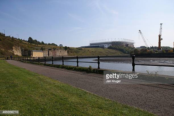 A general view of the River Wear ahead of the Barclays Premier League match between Sunderland and Tottenham Hotspur at Stadium of Light on September...
