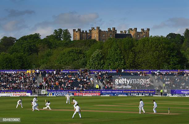 A general view of the Riverside ground with Lumley Castle during day two of the 2nd Investec Test match between England and Sri Lanka at Emirates...