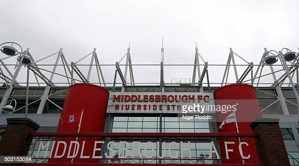 General view of The Riverside Stadium ahead of the Sky Bet Championship soccer match between Middlesbrough and Derby County on January 2, 2016 in...