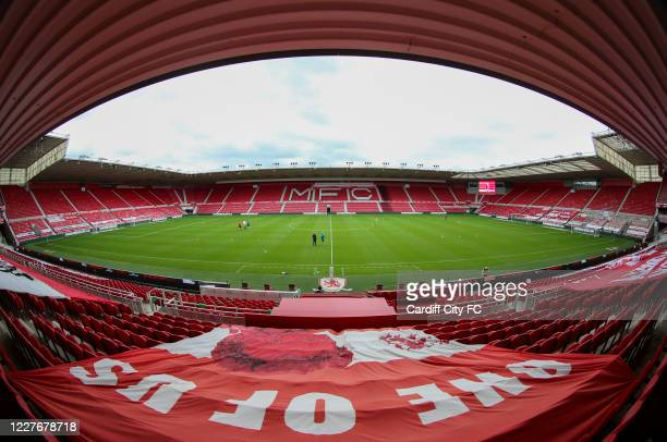 A general view of the Riverside Stadium before the Sky Bet Championship match between Middlesbrough and Cardiff City at Riverside Stadium on July 18...