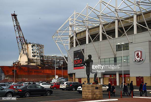 General view of the Riverside Stadium before the Sky Bet Championship match between Middlesbrough and Sheffield Wednesday at the Riverside Stadium on...
